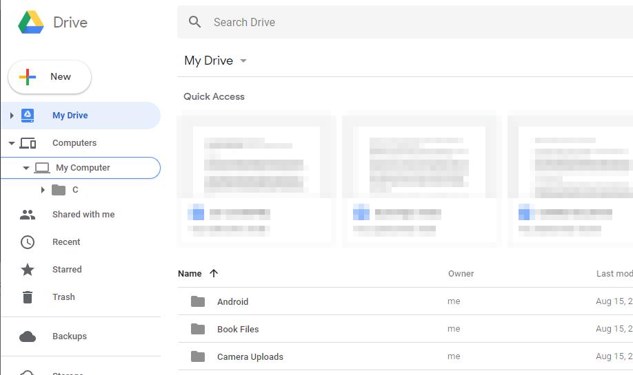 Google Drive web interface.