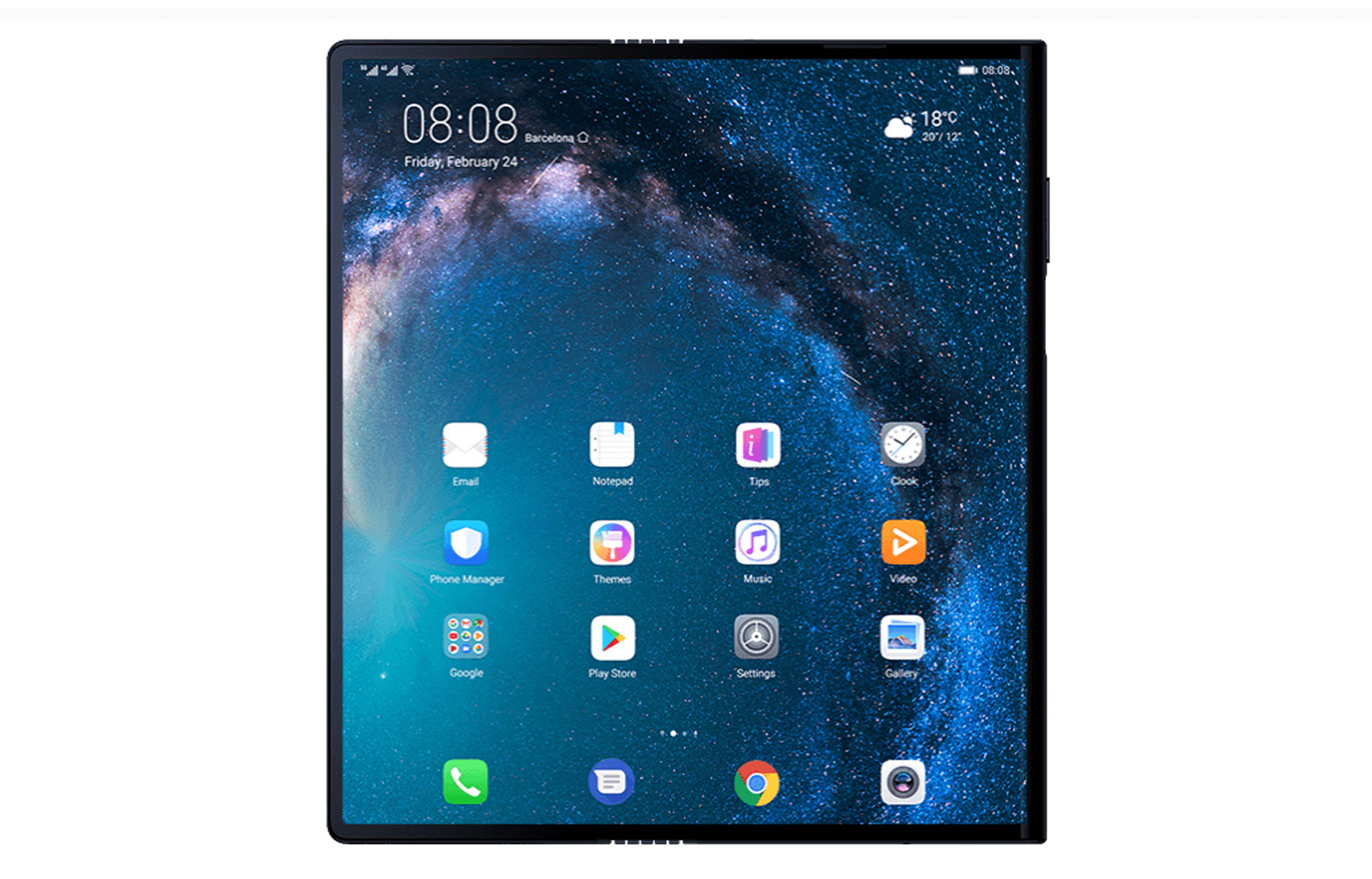 The fully-unfolded Mate X screen is 8 inches diagonally.