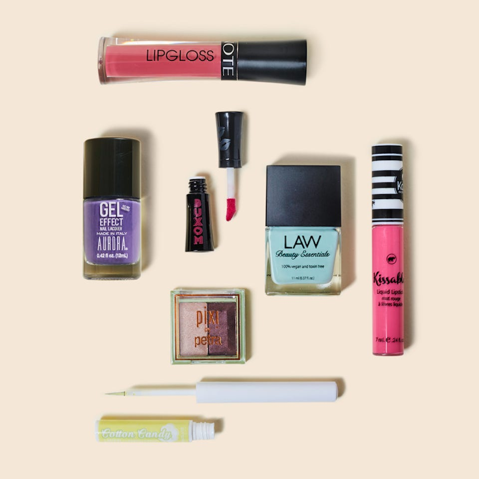 A selection of Ipsy makeup products
