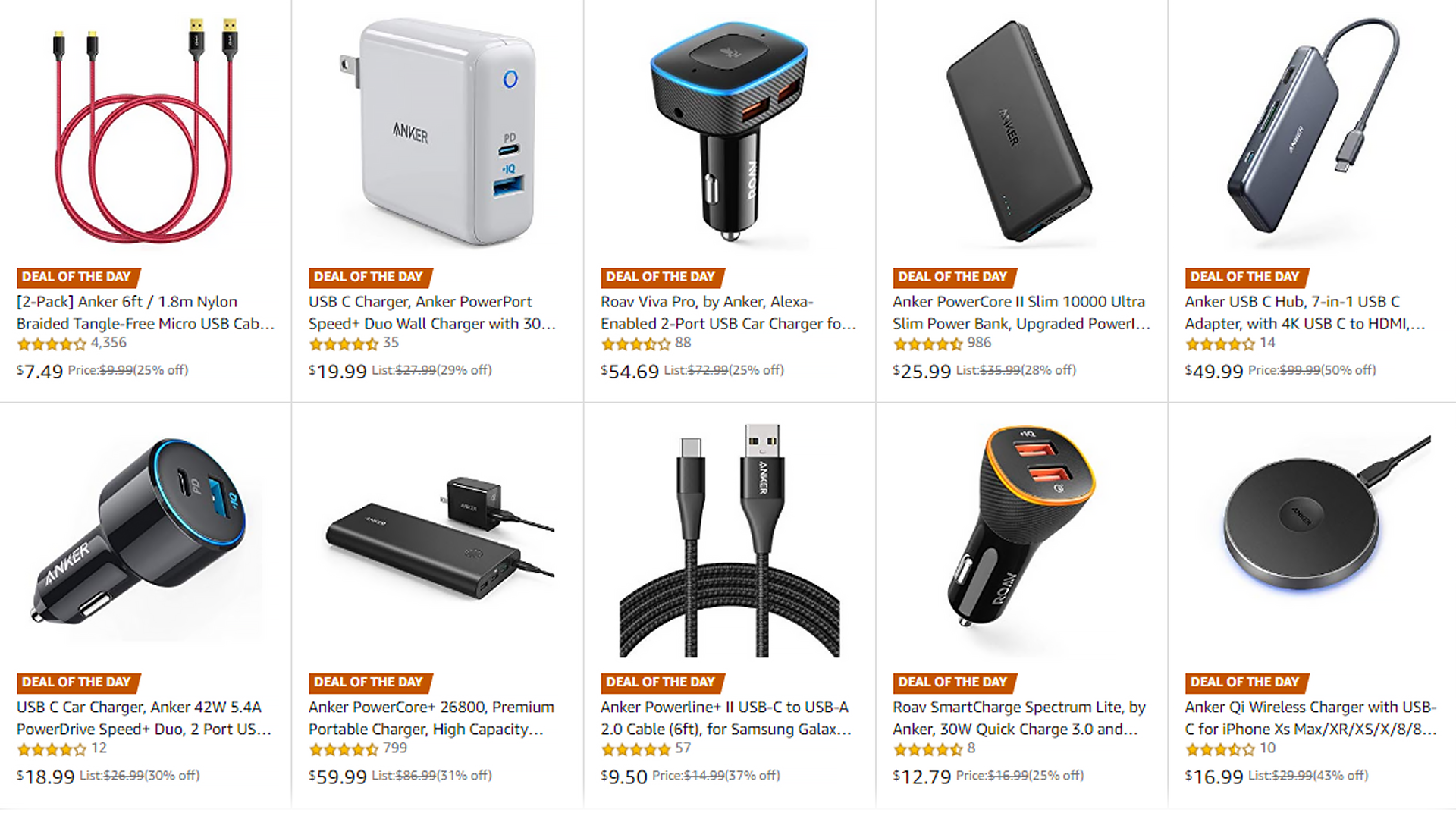 Anker sale on Amazon