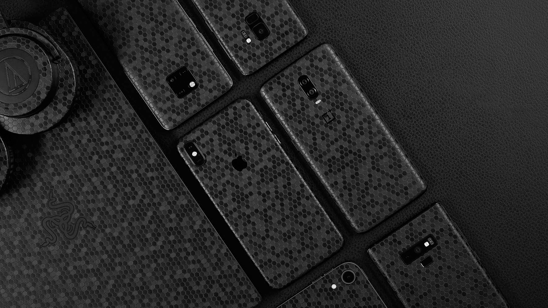 dbrand's new swarm skin on cellphones and laptops