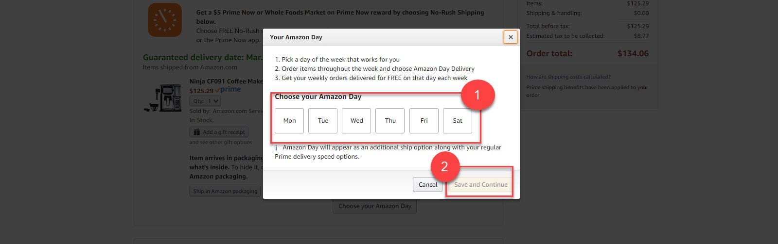 Choose Your Amazon Day Dialog