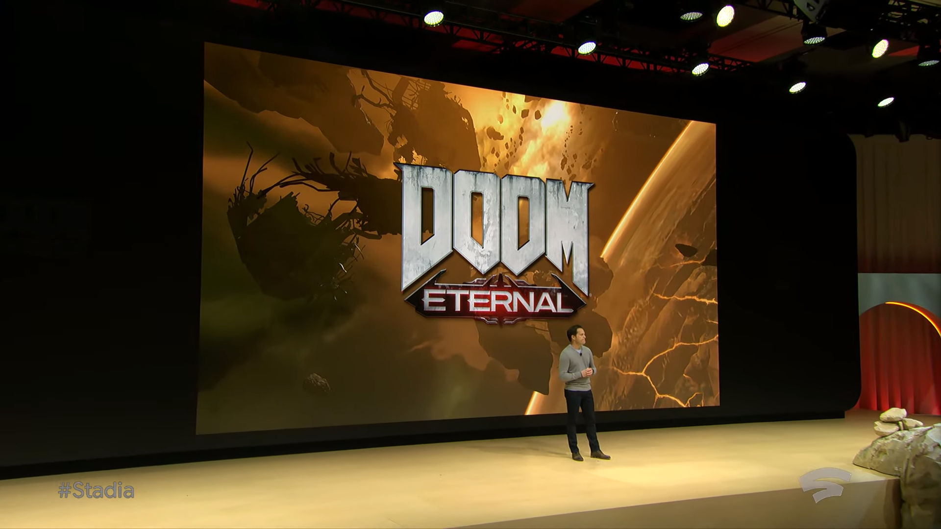 DOOM Eternal is the only upcoming game confirmed to already be running on Stadia.