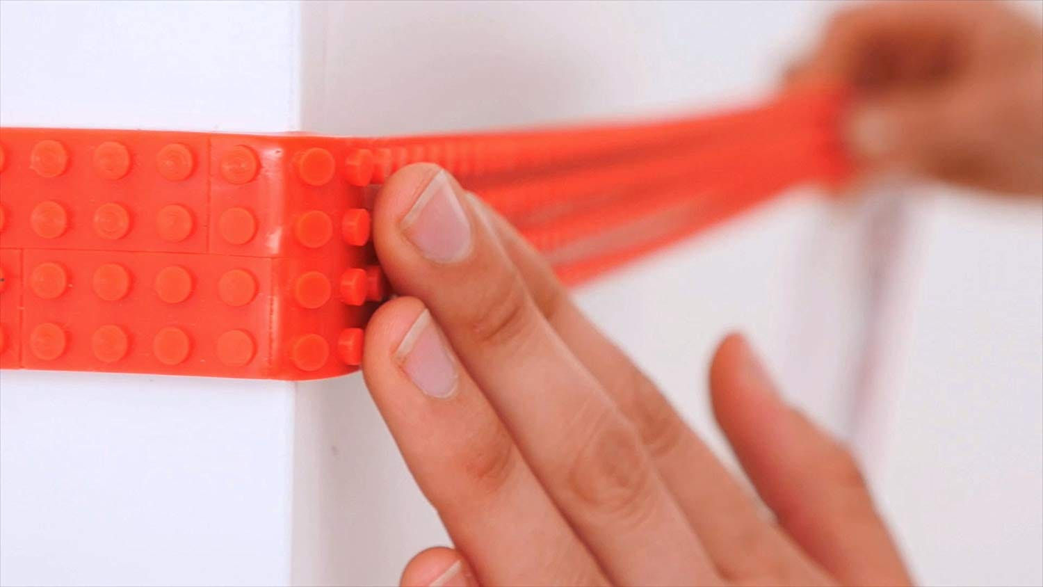 This flexible, sticky tape lets you build LEGO decorations almost anywhere.