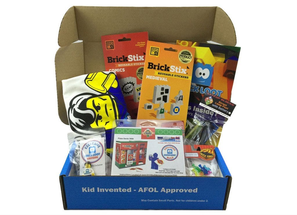 The Brick Loot subscription delivers exclusive goodies every month.