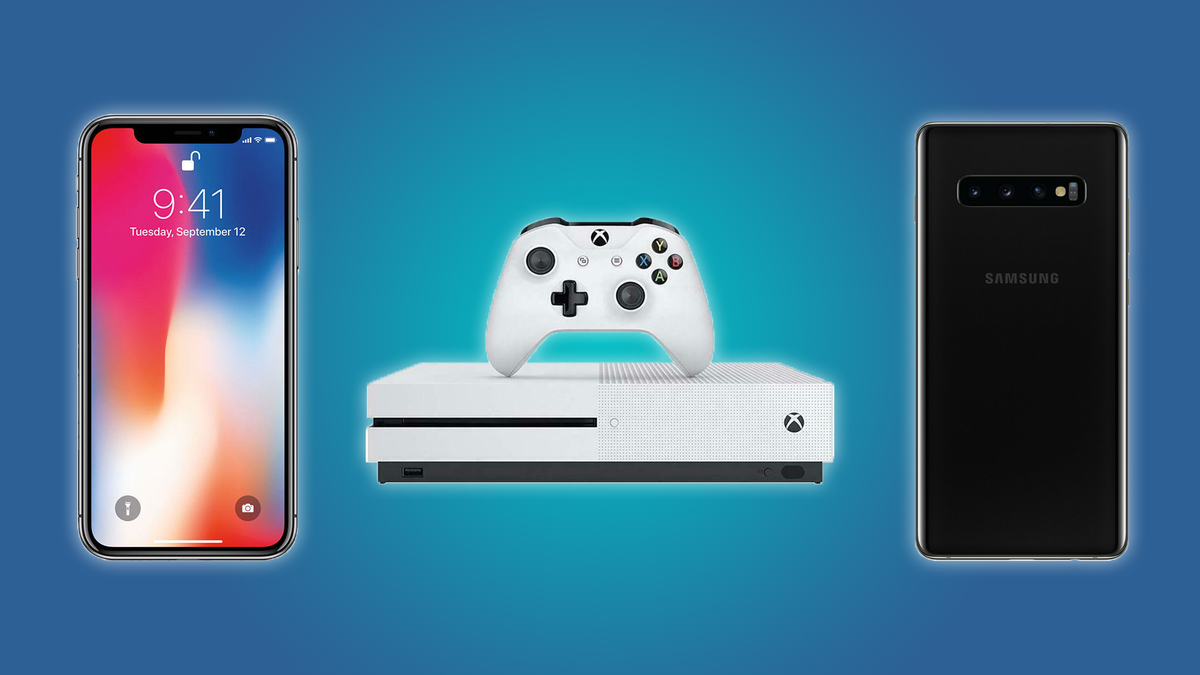 The iPhone X, the Xbox One S, and the Samsung Galaxy 10 Plus