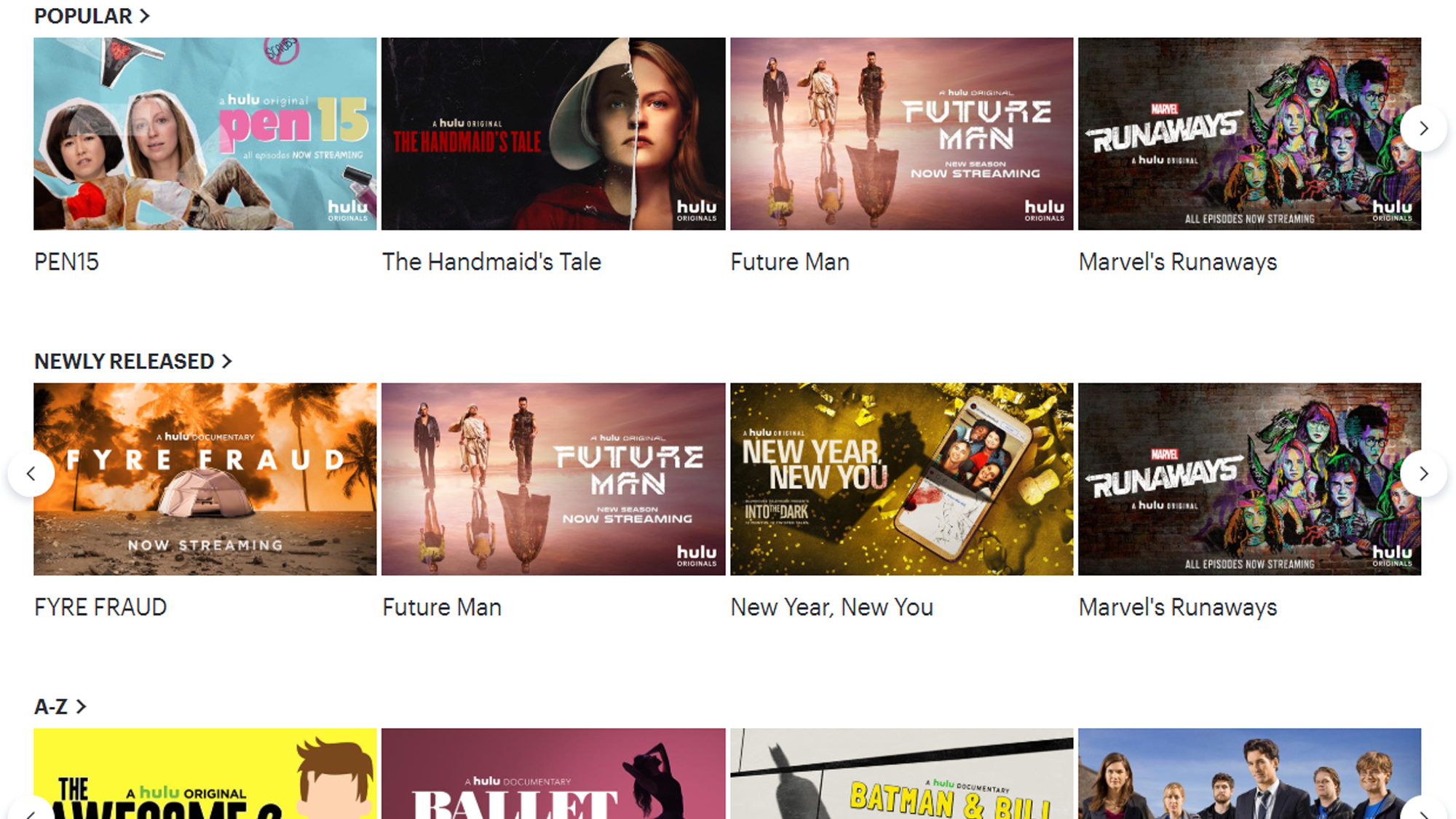 Hulu + Live TV offers the best selection of original programming and on-demand streaming.
