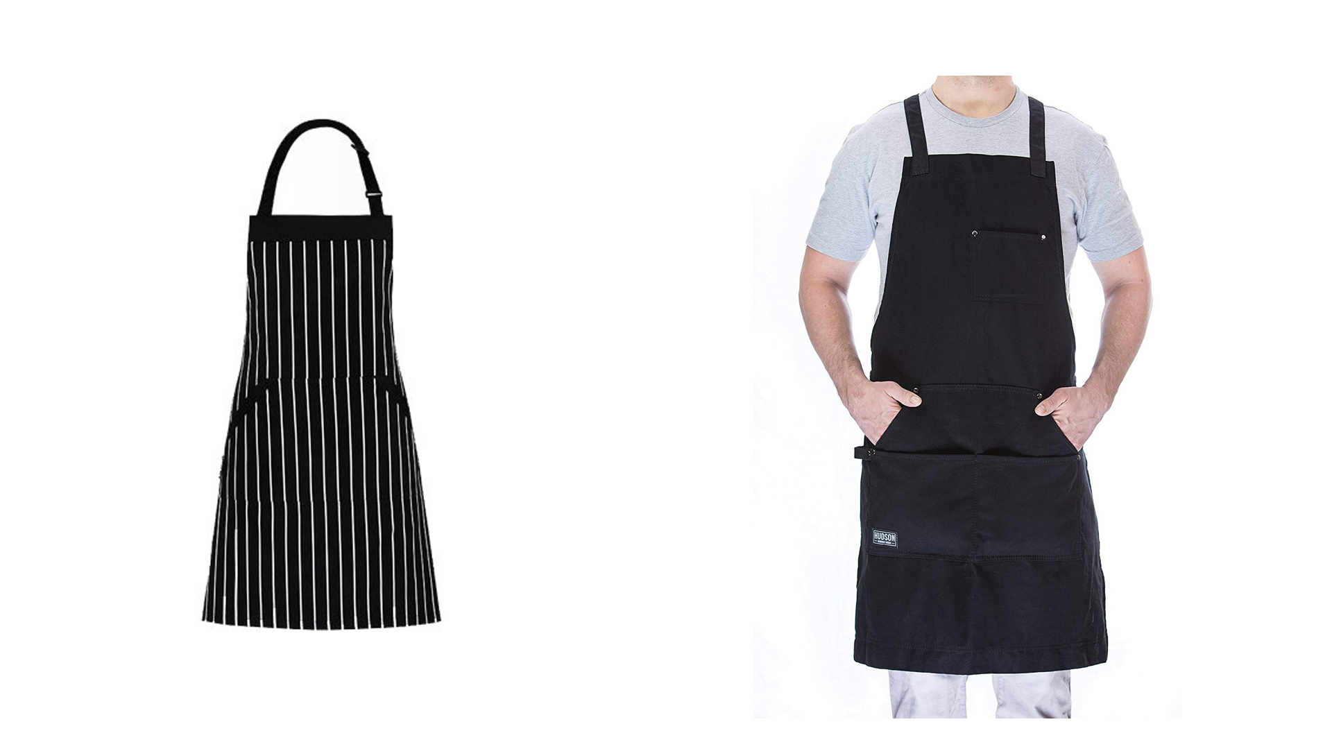 Two black aprons