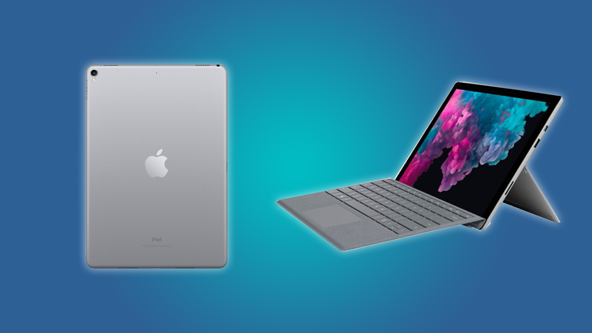 The iPad Pro and the Microsoft Surface Tablet