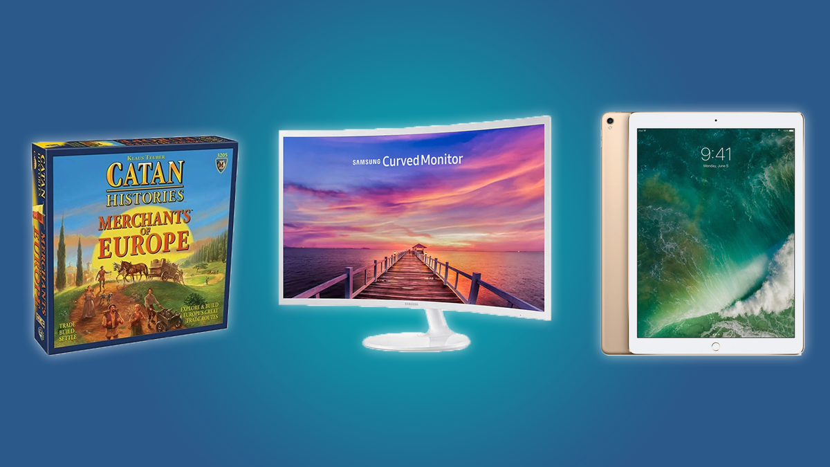 Settlers of Catan, the Samsung Curved Monitor, the iPad Pro