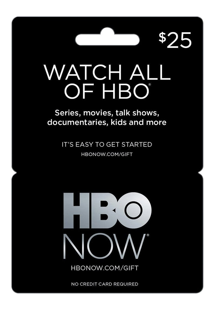HBO's streaming service is available in gift card form.
