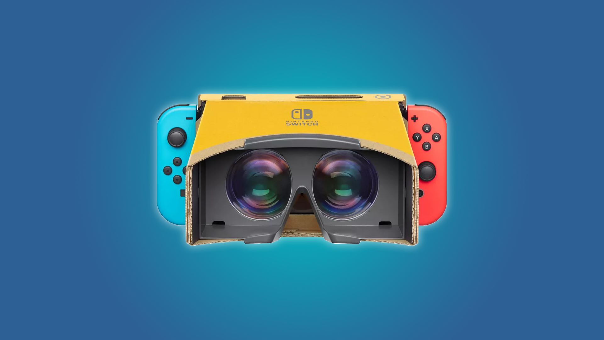 Nintendo Switch with the Labo VR goggles