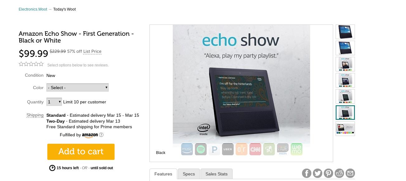 Deal Alert: Holen Sie sich eine Echo-Show der ersten Generation für nur $ 100 von Woot