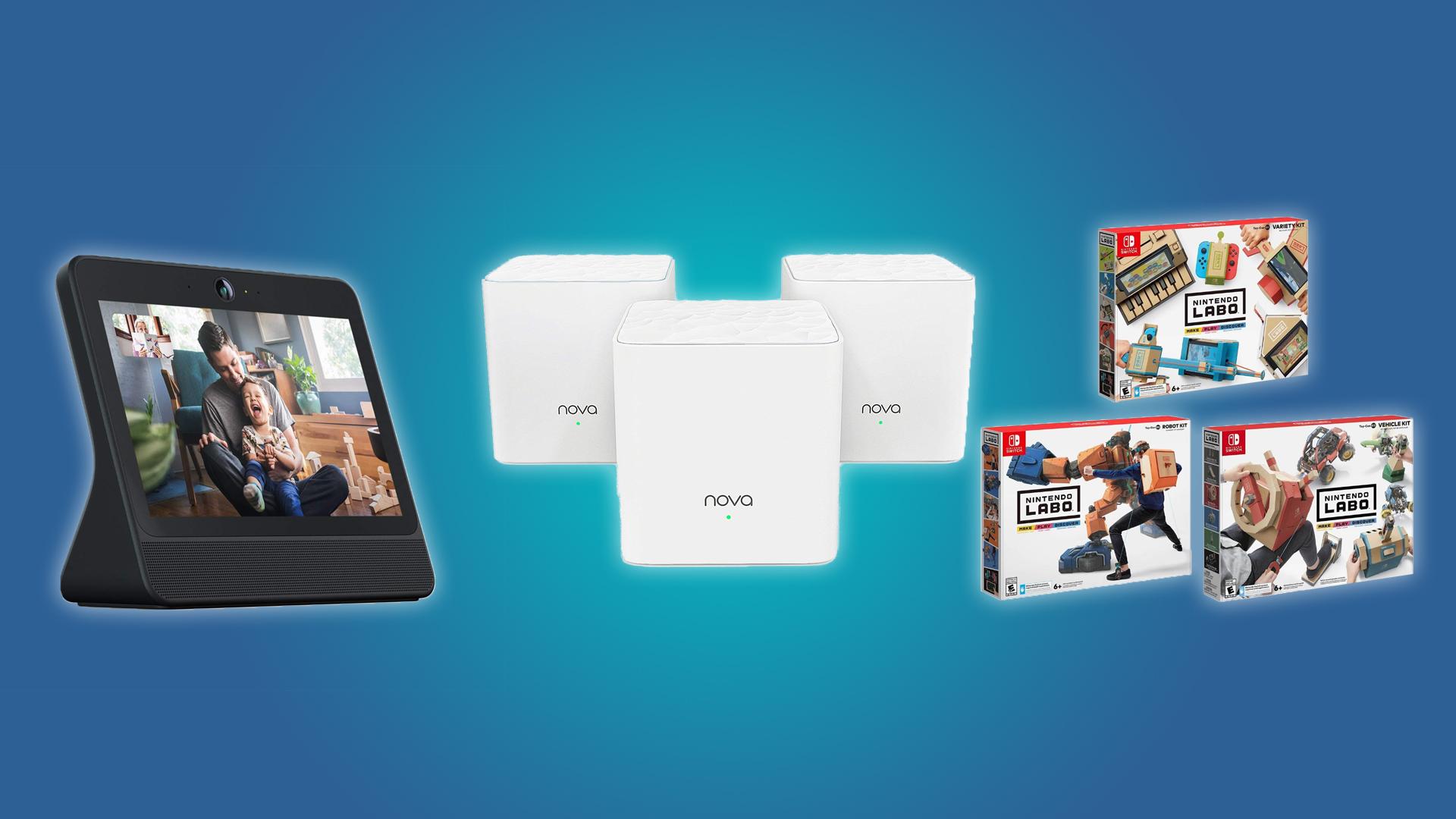 The Facebook Porta, Tenda Nova Mesh Wi-Fi System, and the Nintendo Labo Kit