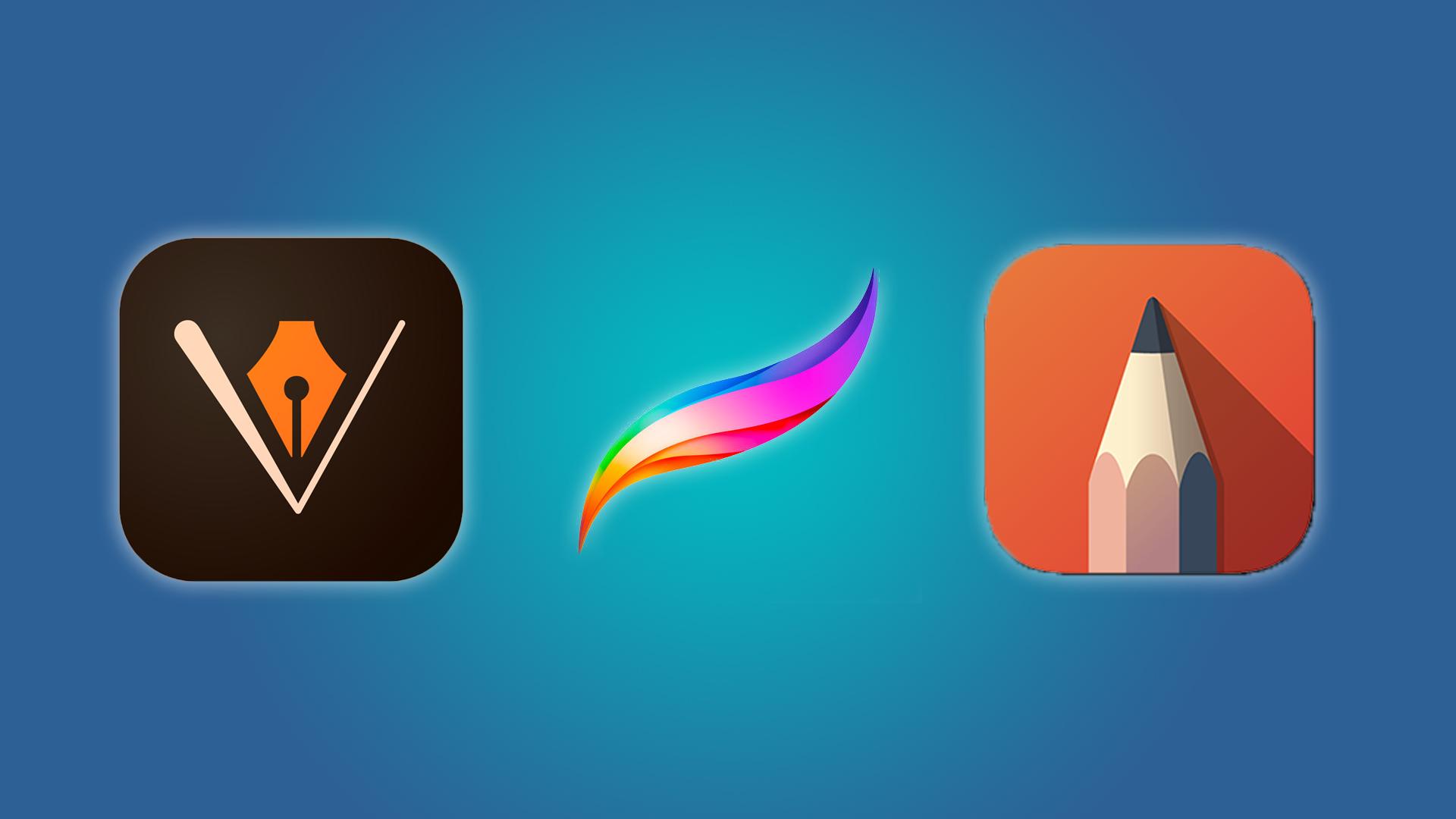 Adobe Illustrator, Procreate, and Autodesk Sketchbook