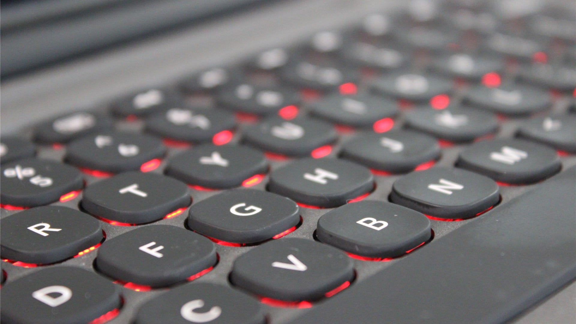 ZAGG Slim Book Go with red backlit keys