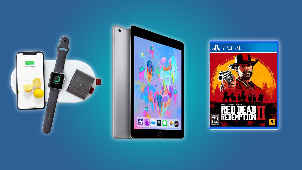 The SliceCharge 2 Wireless Charging Mat, the iPad, and Red Dead Redemption 2