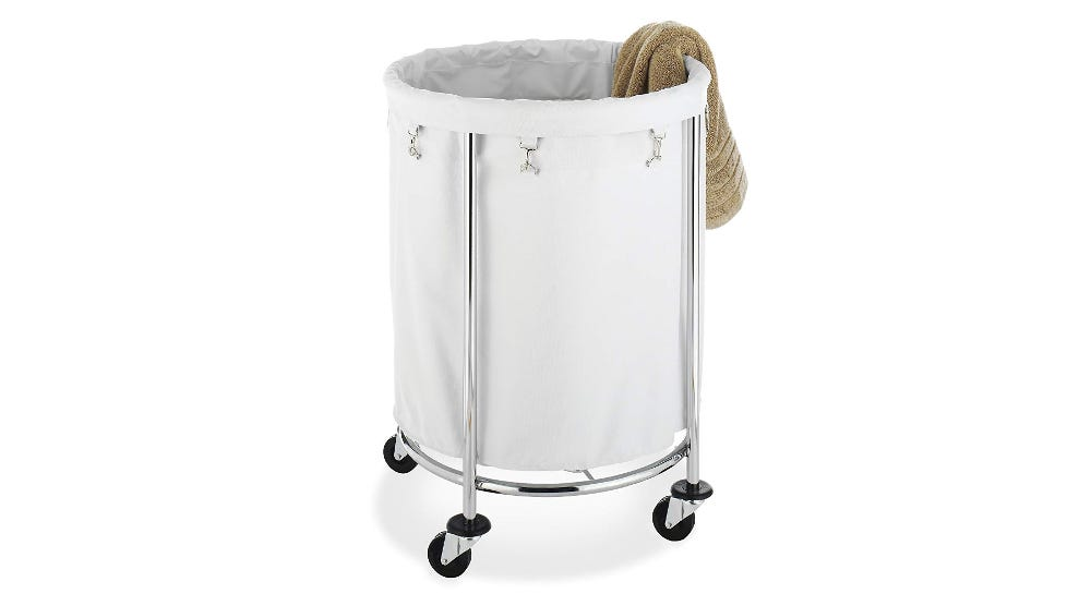 Whitmor Round Commercial Laundry Hamper