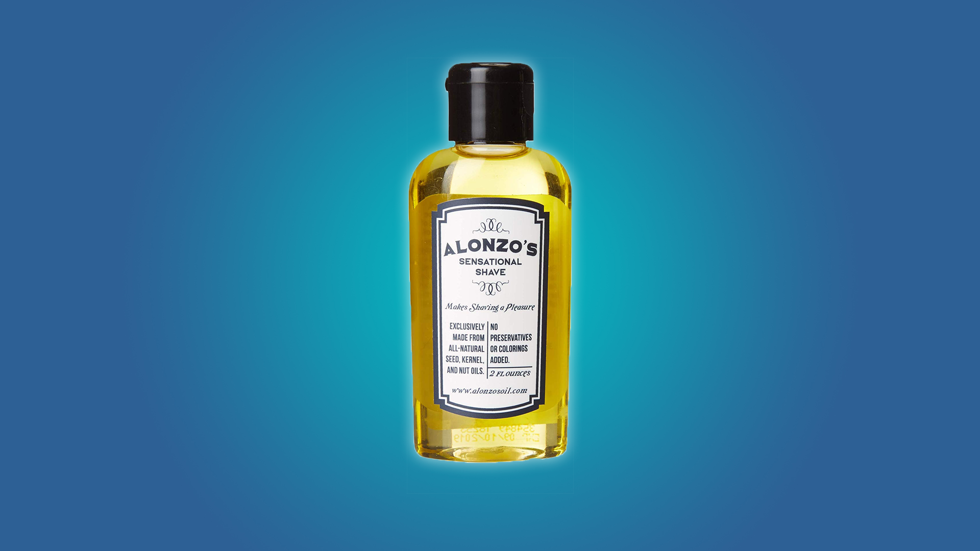 Alonzo's Sensational Shave Premium Natural 2 oz Aftershave