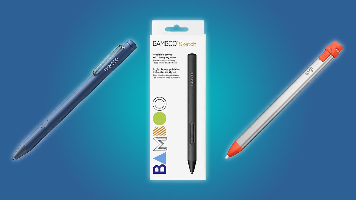 The Wacom Bamboo Sketch, the Wacom Bamboo Fineline, and the Logitech Crayon