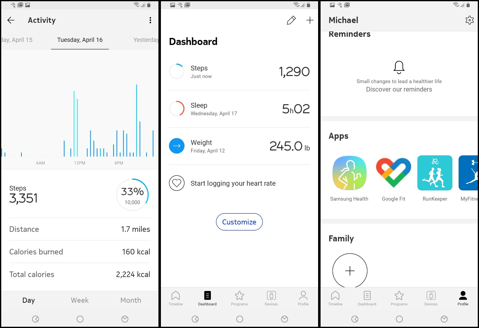 Withings' fitness tracking options are pretty standard, but integrate with many different services.