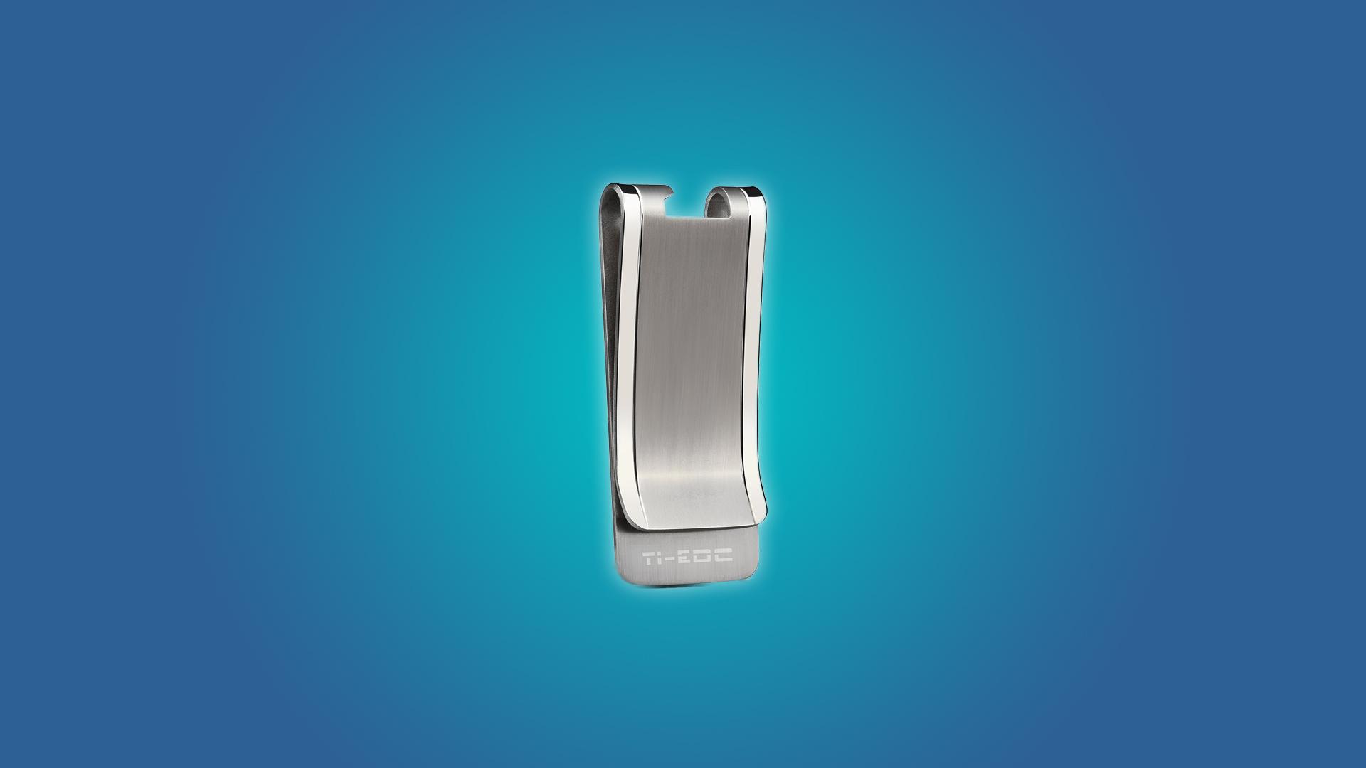 The TI-EDC Titanium Money Clip