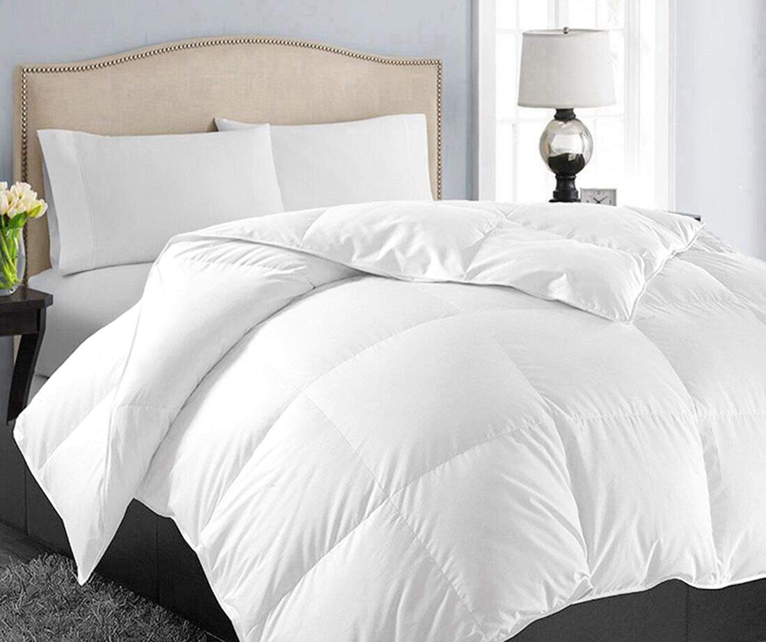 This lightweight comforter is one of the cooler options if you need it.