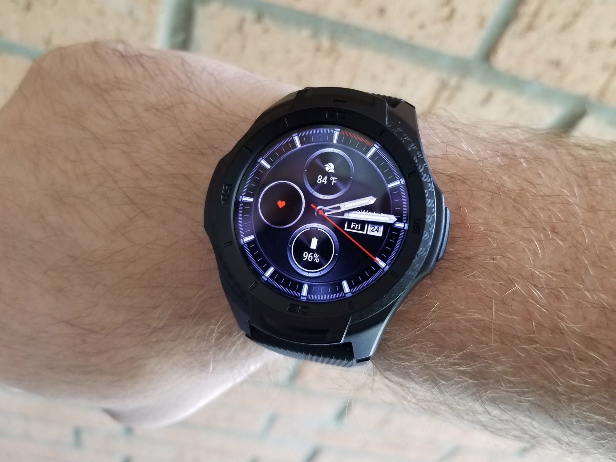 The TicWatch S2 wears large on my wrist, even though it's a pretty big one.