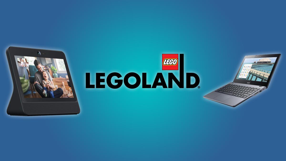 The Facebook Portal, the Legoland logo, and the Acer Chromebook