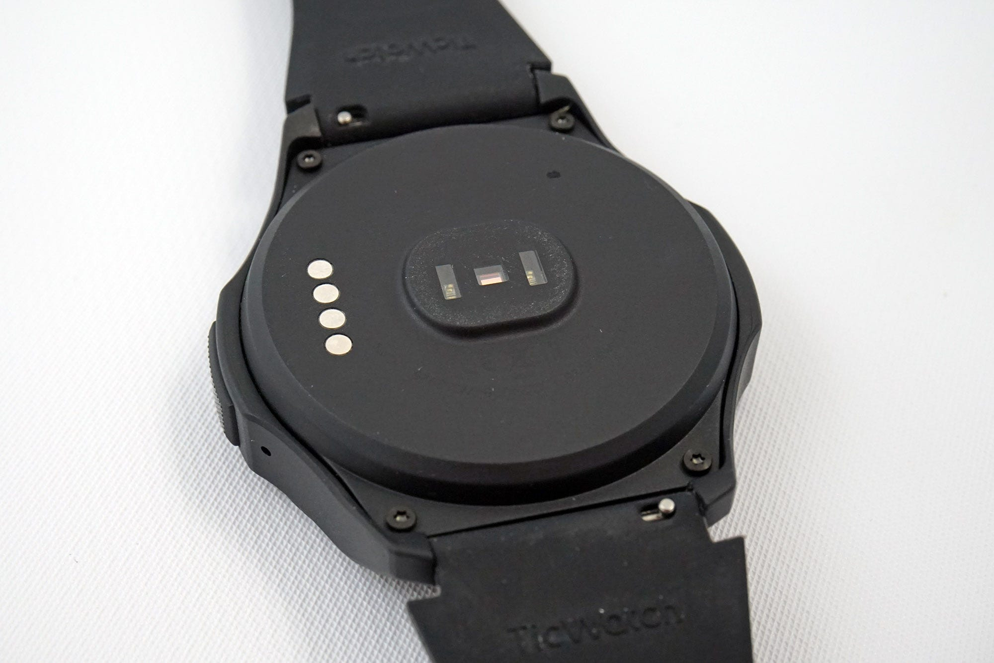 """The TicWatch S2's plastic case makes it big, even for a """"sports"""" watch."""