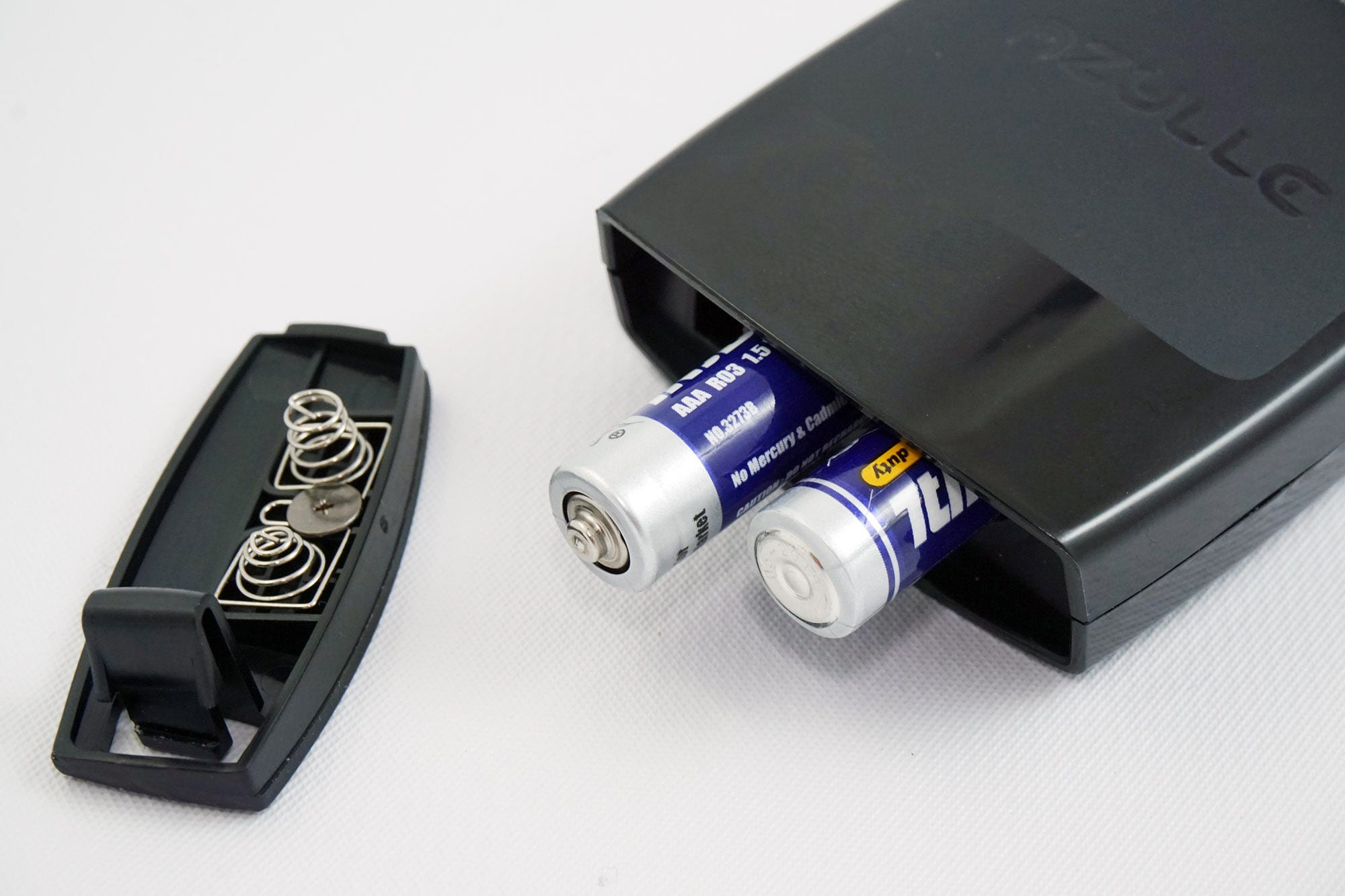 The Lynk runs on standard AAA batteries.