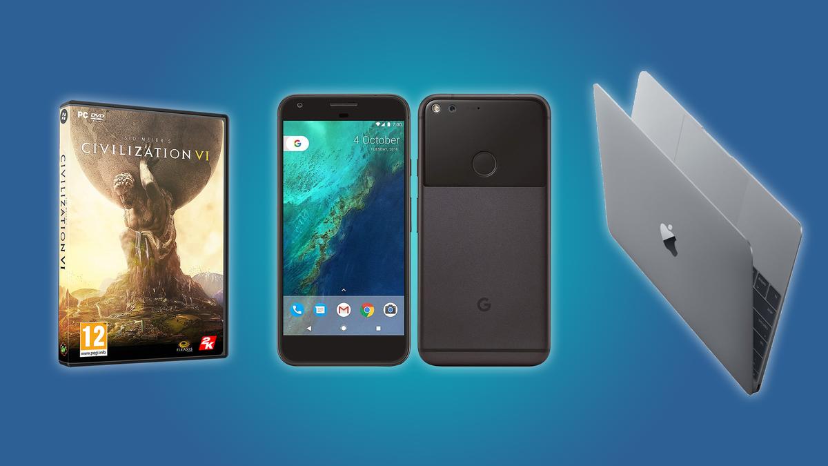 "SId Meier's Civilization VI, the Google Pixel XL, and the MacBook 12"""