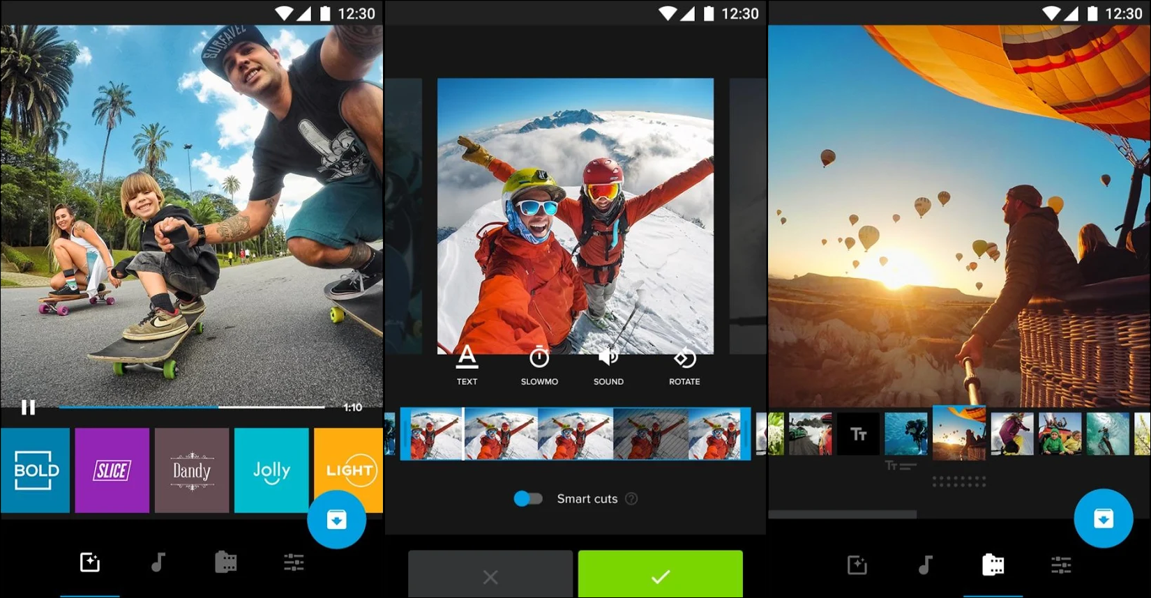 GoPro's Quik smartphone editor offers more options and a better interface than any alternatives.
