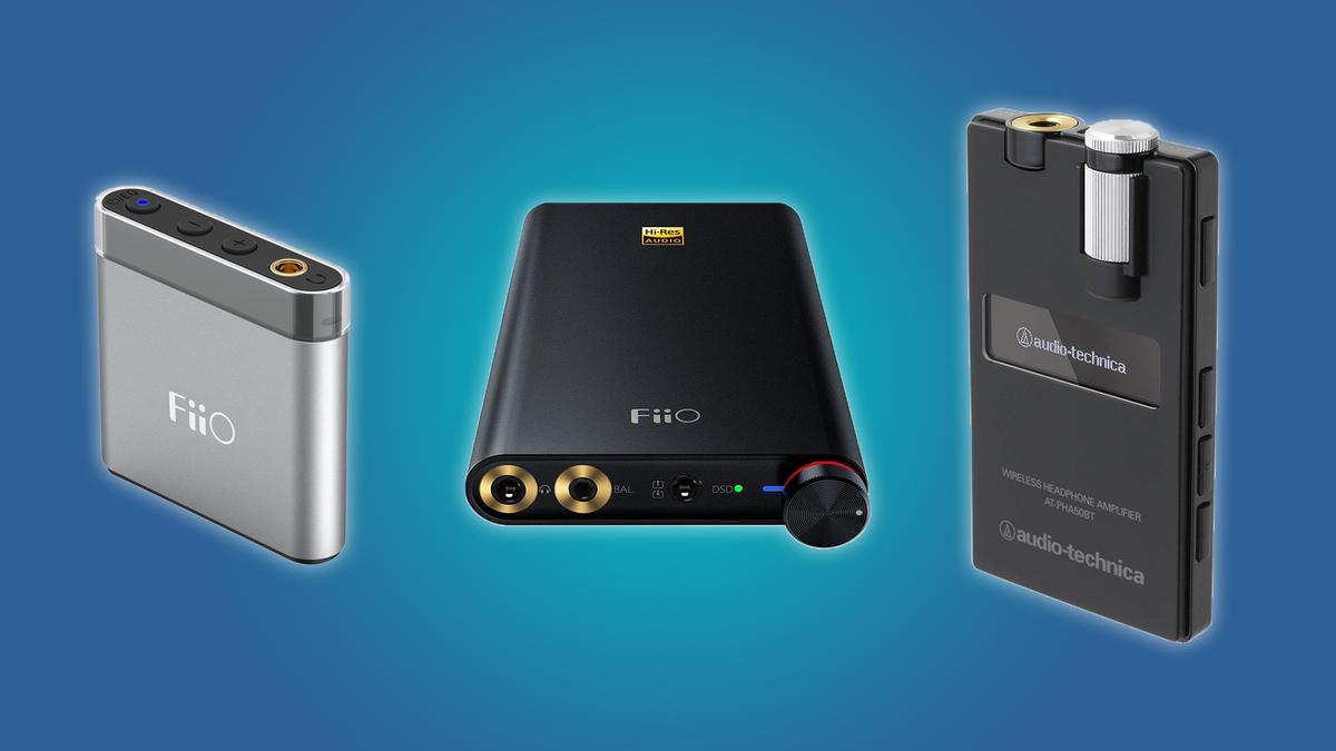 The FiiO A1, the FiiO Q1 Mark II, and the Audio-Technica Wireless DAC