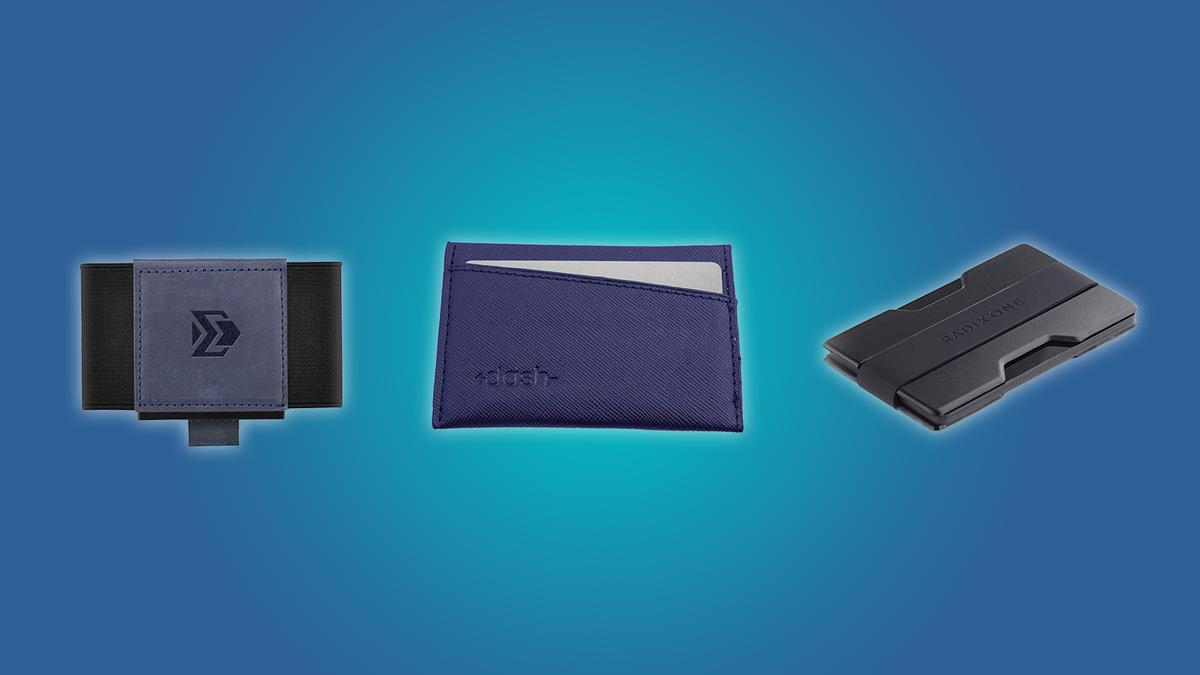 The Dash Premium Slim Wallet, the VBAX slim wallet, and the RADIX One slim wallet.