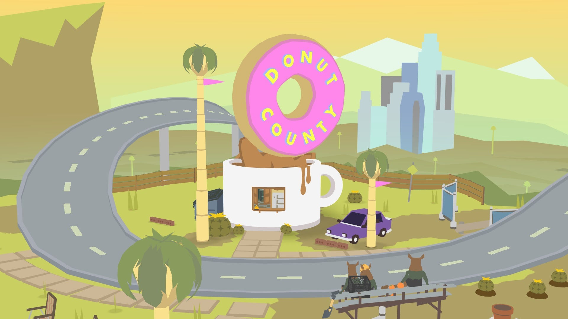 Donut County highway coffee shop