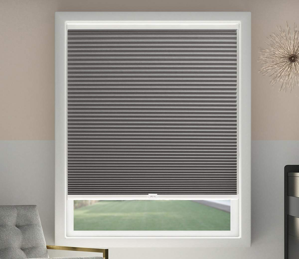 Foil-lined, chambered blinds can keep out huge amounts of light and heat.