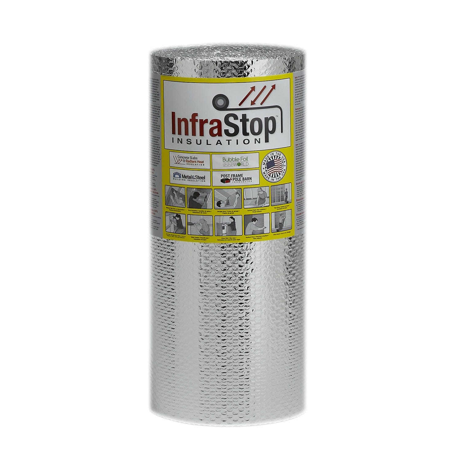 Double-chambered stiff aluminum foil is the ultimate in temporary window insulation.