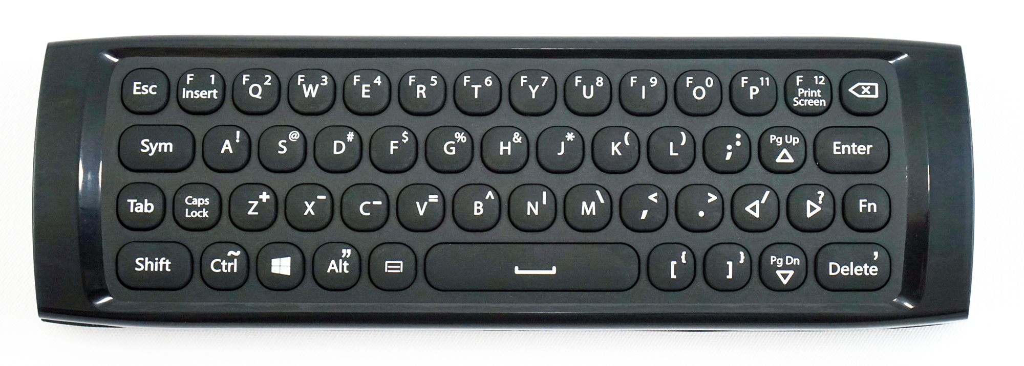 The reverse side of the Lynk includes a full mobile-style keyboard.