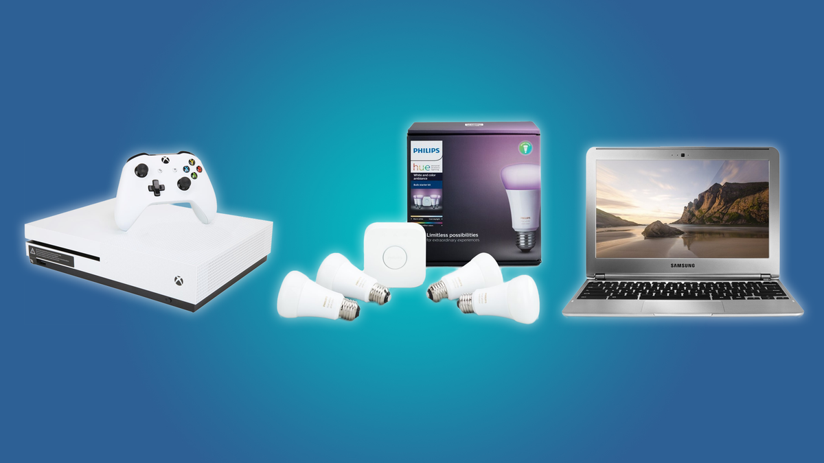The Xbox One S, the Philips Hue Starter Kit, and the Samsung Chromebook