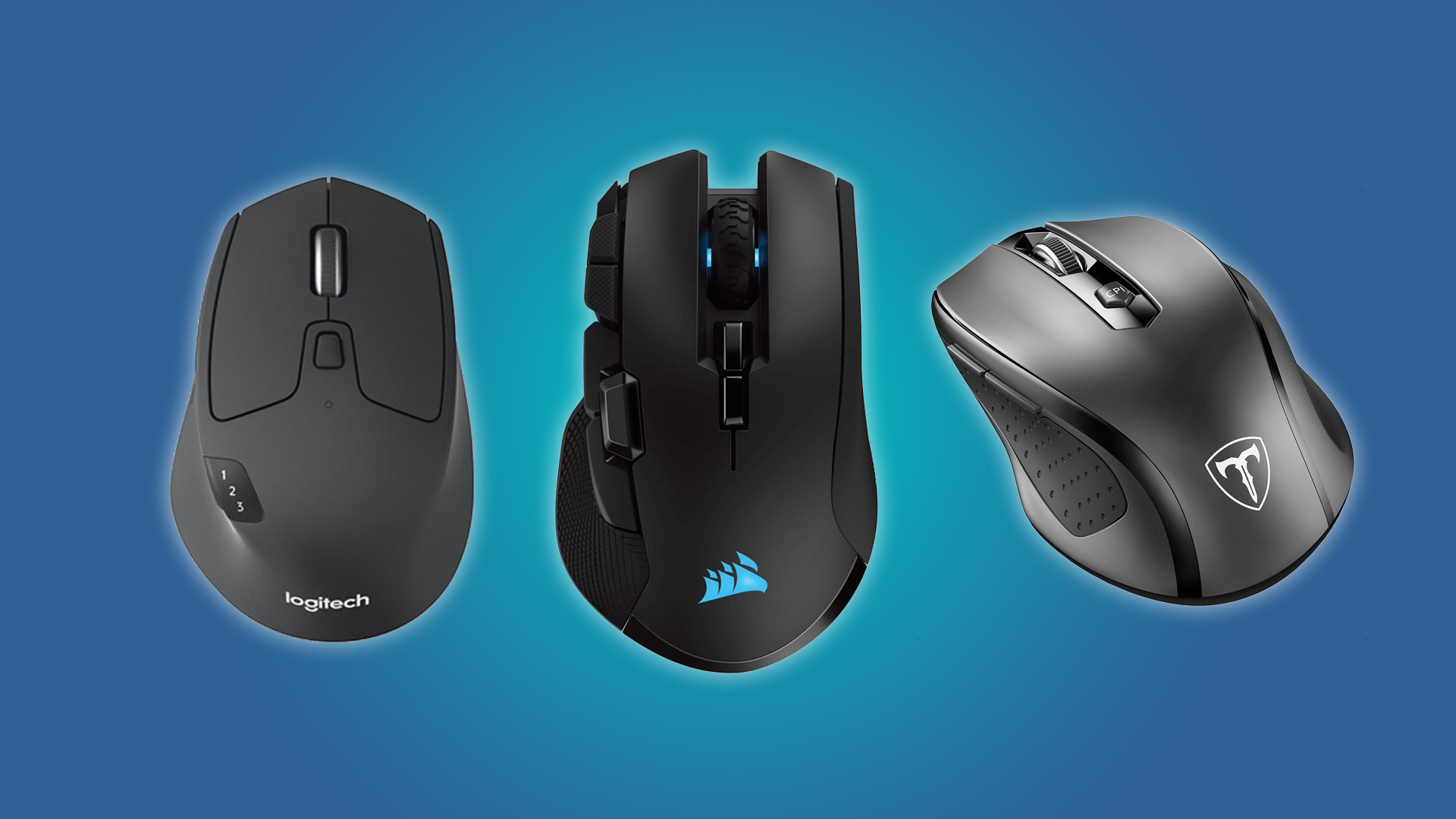 The Logitech Triathalon, the VicTsing MMO5, and the CORSAIR IRONCLAW