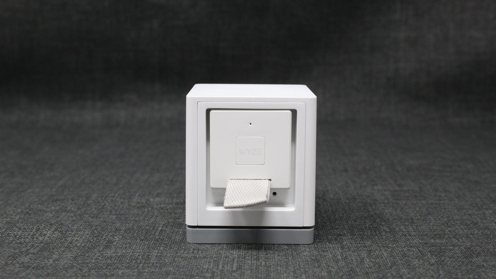 Wyze Cam with a bridge plugged into a back.