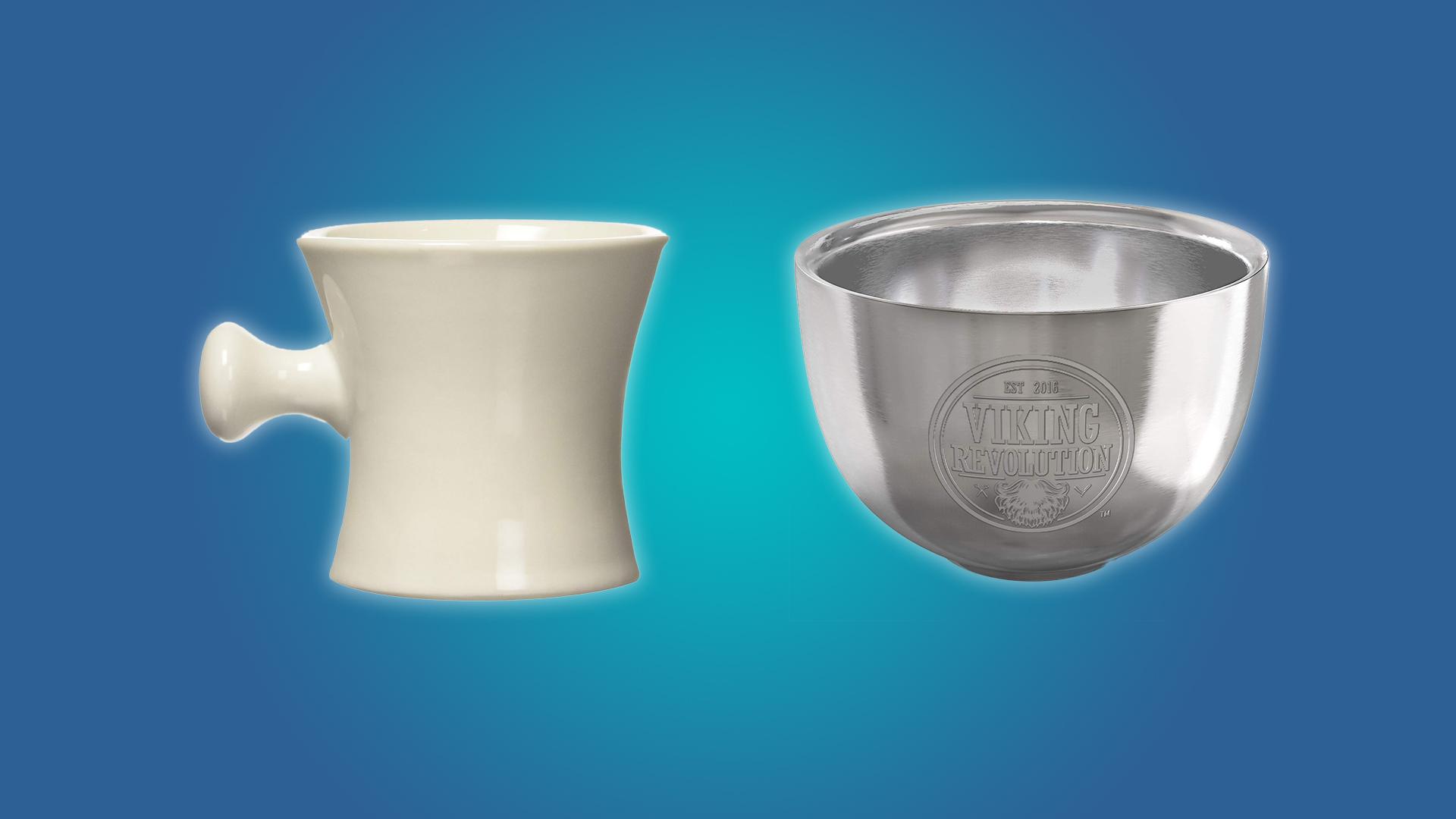 The Harry shaving mug and the Viking Revolution shaving bowl
