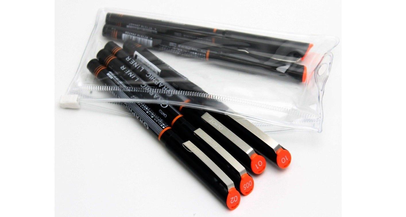 Ohto Graphic Liner pen set