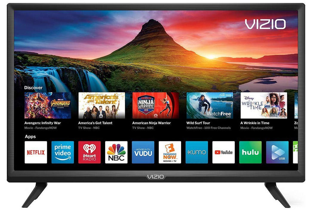 The Smart menu on a Vizio smart TV.