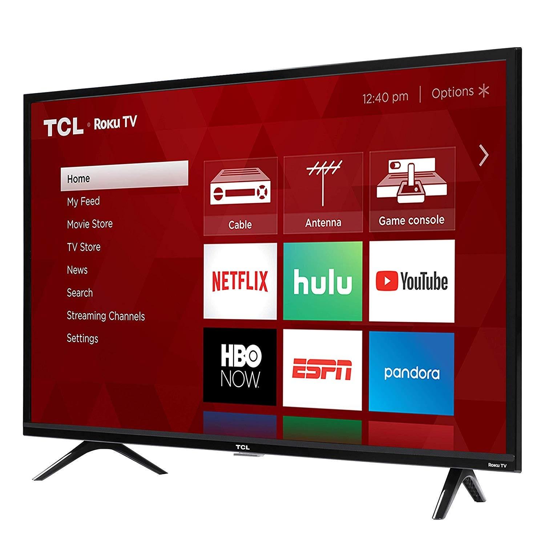The Roku menu on a TCL smart TV.