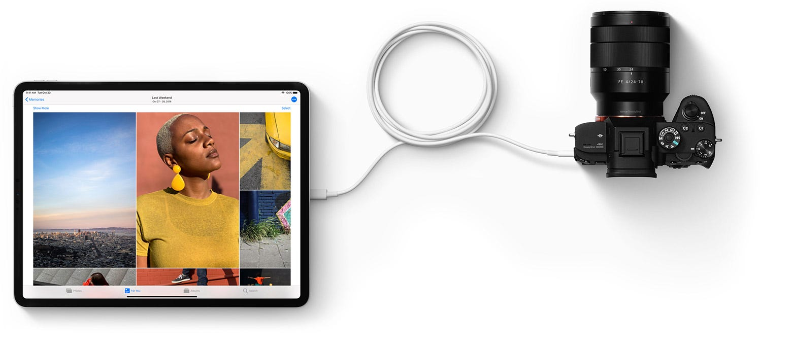 Apple dropped the Lightning port for USB-C alone on the new iPad Pro.