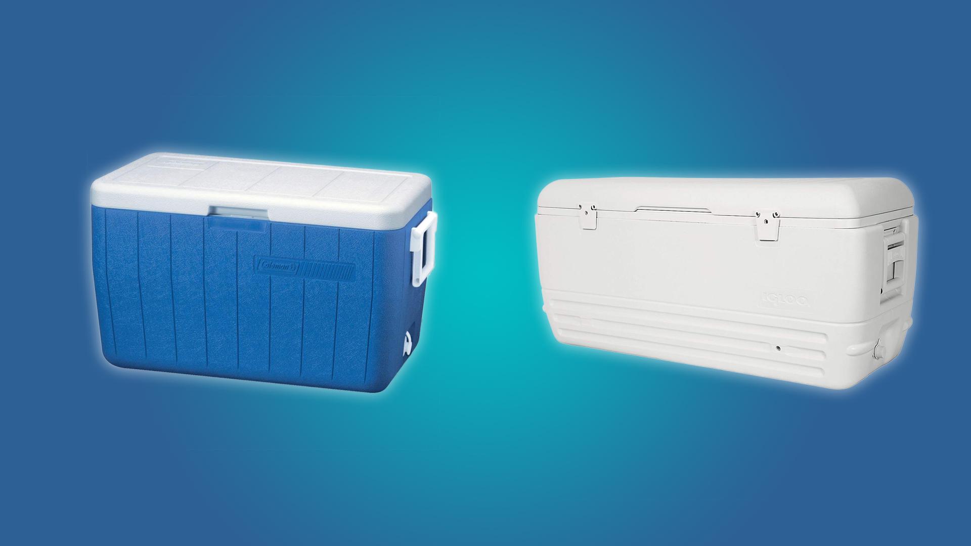 The Coleman 48qt andIgloo 150qt Coolers