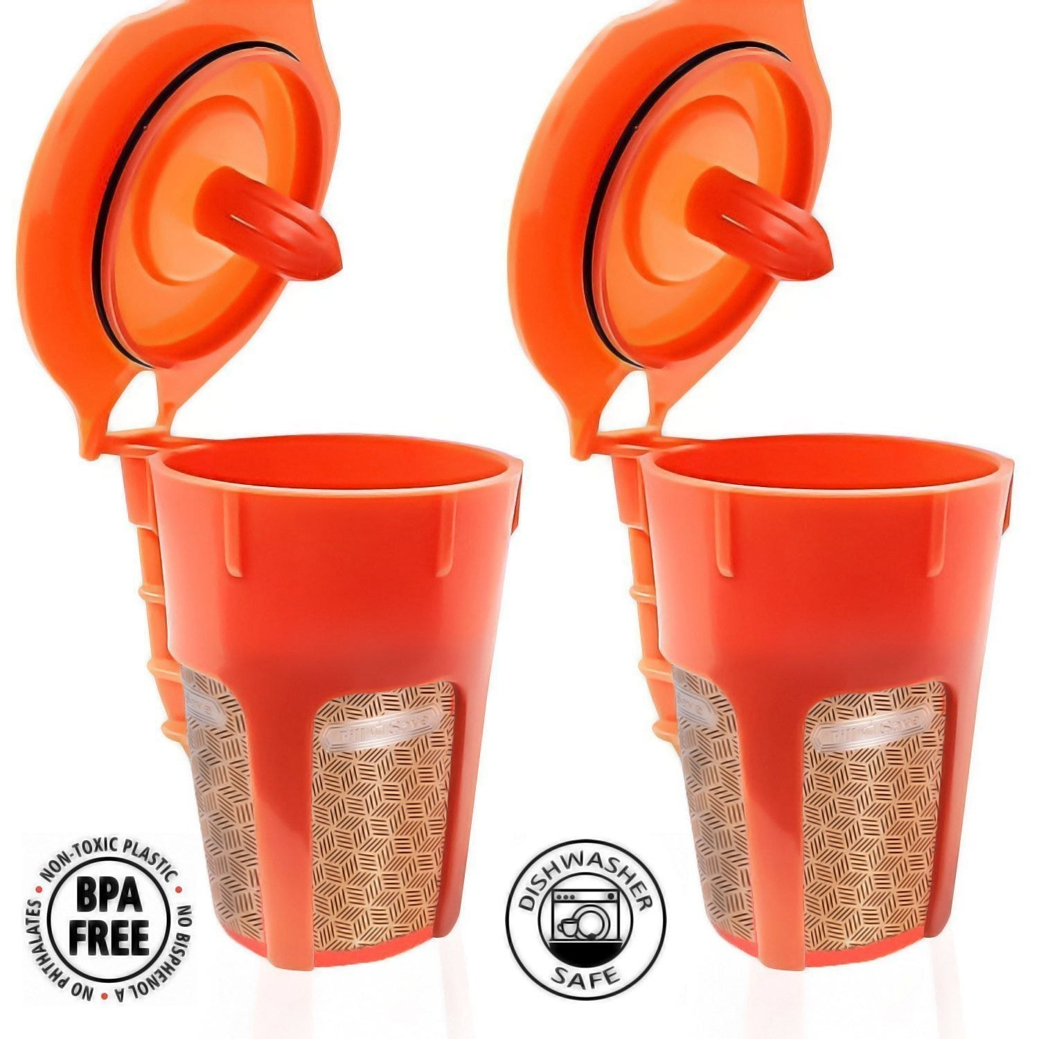 Two Fill N Save Carafe cups.