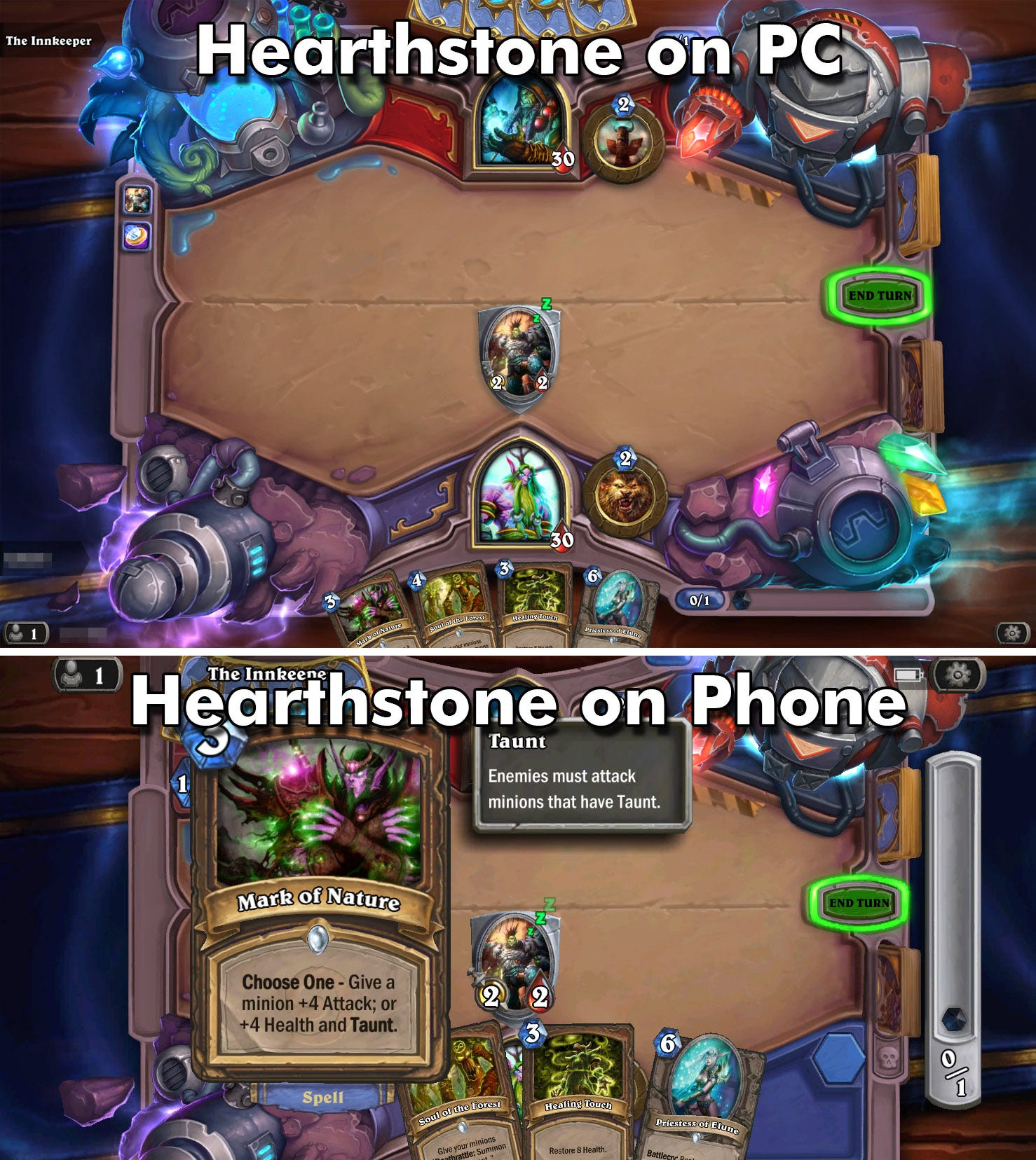 Hearthstone's adaptive interface is a model for usability at any size.